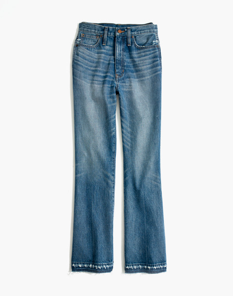 Tall Rigid Flare Jeans: Drop-Hem Edition in adamsville wash image 4