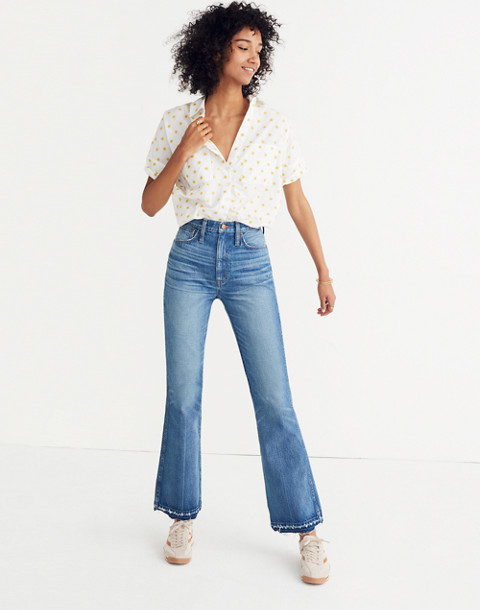 Rigid Flare Jeans: Drop-Hem Edition in adamsville wash image 1