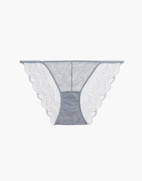 Lace String Bikini in antique blue image 4