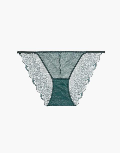Lace String Bikini in smoky spruce image 1