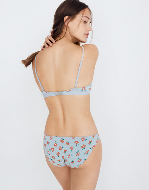 f1082f21cfe2a Cotton-Modal reg  Eliza Cutout Bralette in Pressed Flowers in petite  antique blue ...
