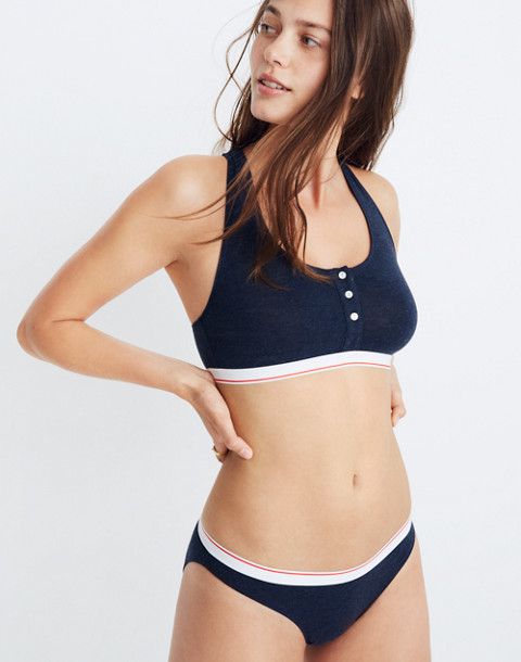 Cotton-Modal® Jayna Bralette in heather night image 1