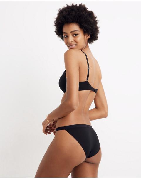 MicroModal® String Bikini in true black image 2