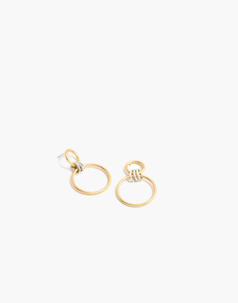 Encircle Hoop Earrings in mixed metal image 1