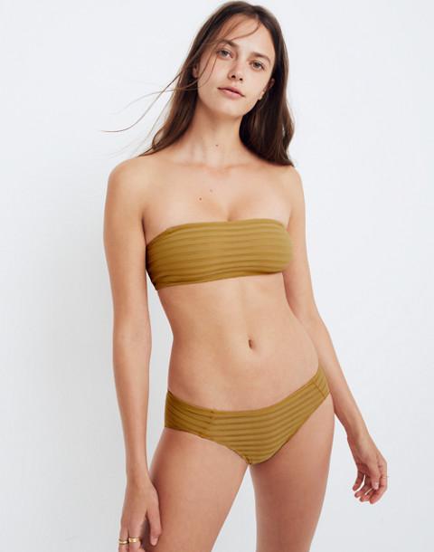 Sheer-Stripe Dani Bandeau Bralette in bronzed amber image 1