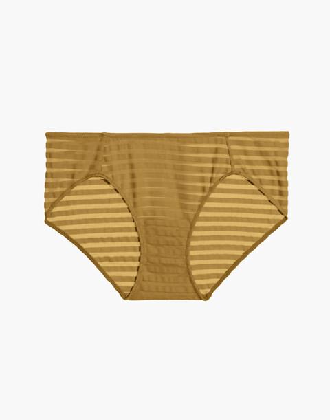 Sheer-Stripe Bikini