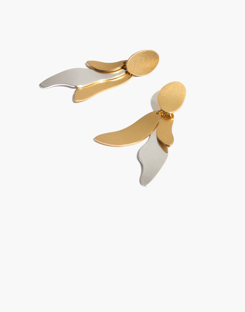 Petalwing Statement Earrings in mixed metal image 1