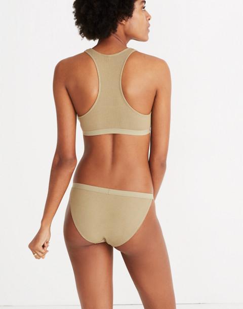 Waffle Knit String Bikini in ash green image 3