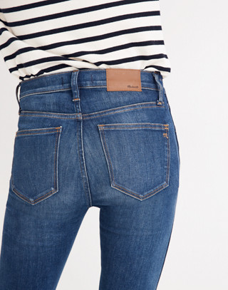 "Tall 9"" High-Rise Skinny Jeans in Paloma Wash: Raw-Hem Edition in paloma wash image 2"