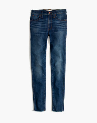 "Petite 9"" High-Rise Skinny Jeans in Paloma Wash: Raw-Hem Edition in paloma wash image 4"