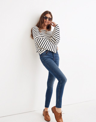 "Tall 9"" High-Rise Skinny Jeans in Paloma Wash: Raw-Hem Edition in paloma wash image 1"