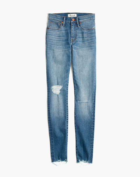 "Taller 9"" High-Rise Skinny Jeans in Frankie Wash: Torn-Knee Edition in frankie wash image 4"