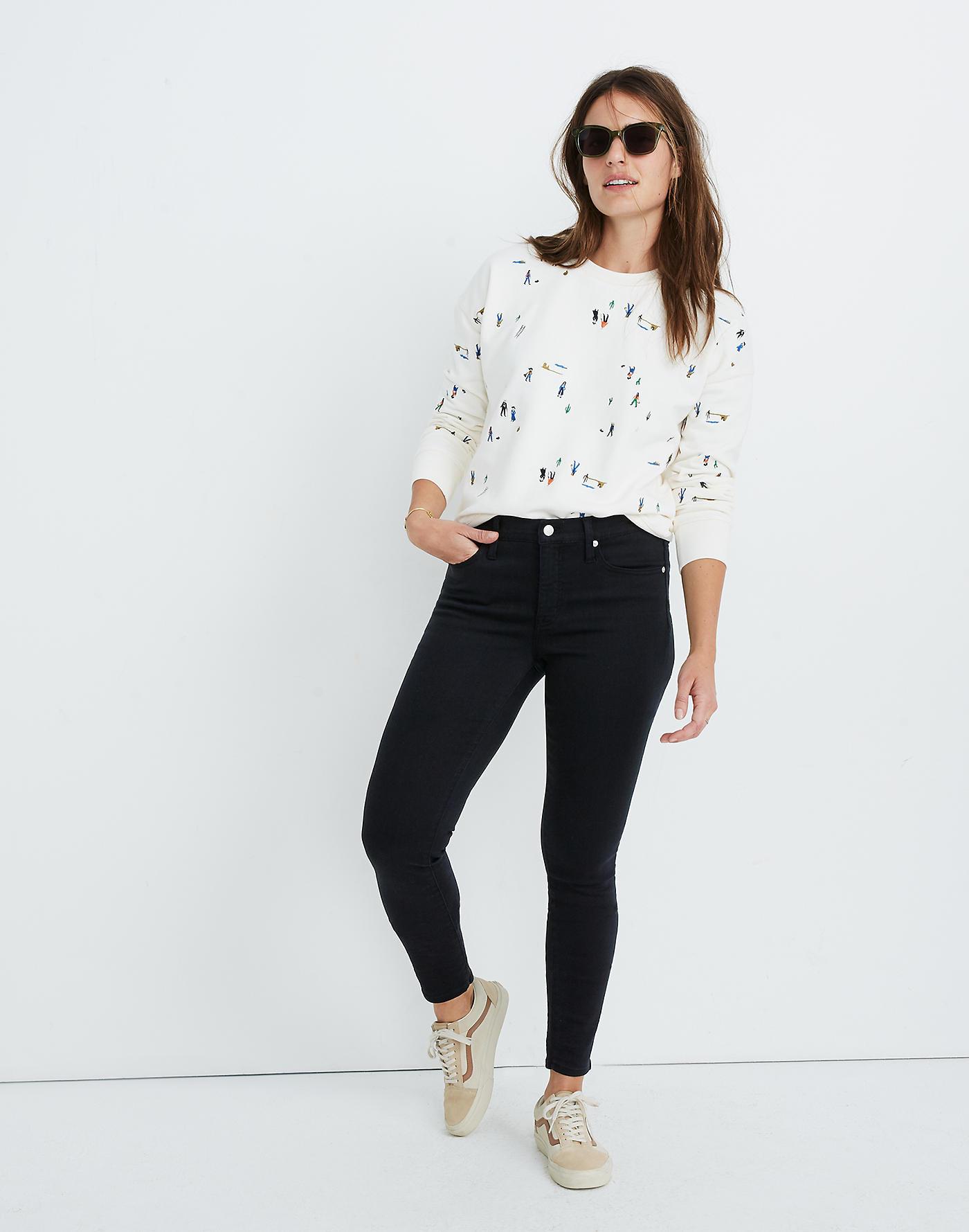 Madewell 9 Mid-Rise Skinny Jeans in Lunar Wash: TENCEL Denim Edition
