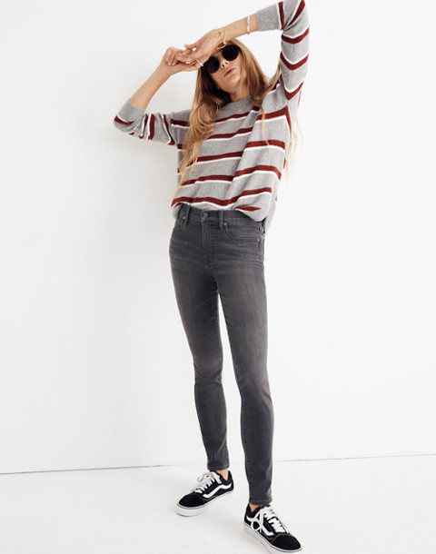 "Petite 9"" High-Rise Skinny Jeans in Coltrane Wash in baxley image 1"