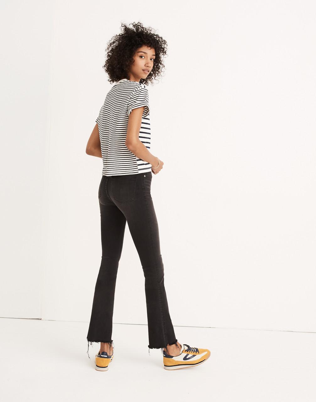Cali Demi-Boot Jeans in Berkeley Black: Chewed-Hem Edition in berkeley wash image 2