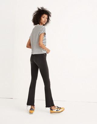 Petite Cali Demi-Boot Jeans in Berkeley Black: Chewed-Hem Edition in berkeley wash image 2