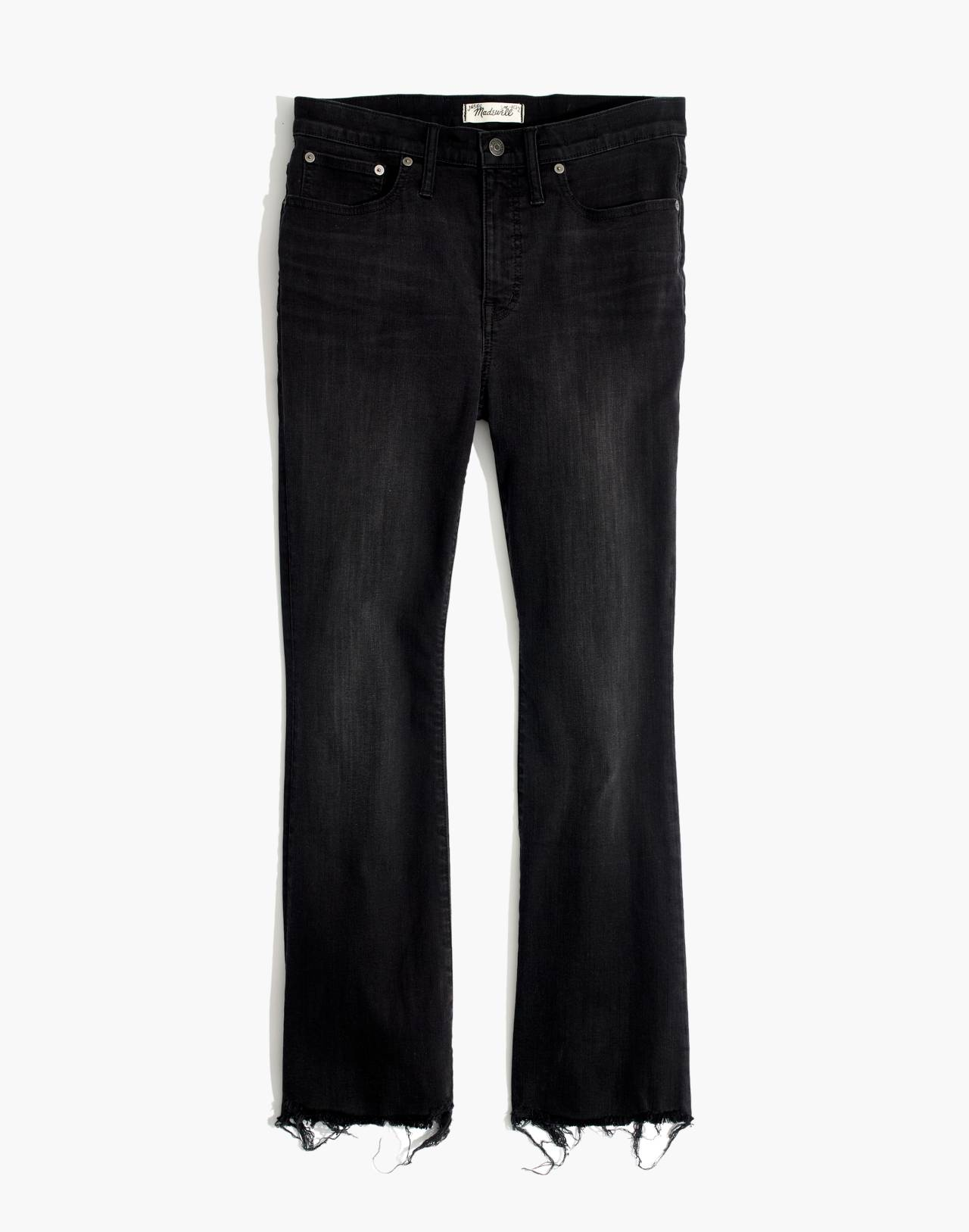 Petite Cali Demi-Boot Jeans in Berkeley Black: Chewed-Hem Edition in berkeley wash image 4