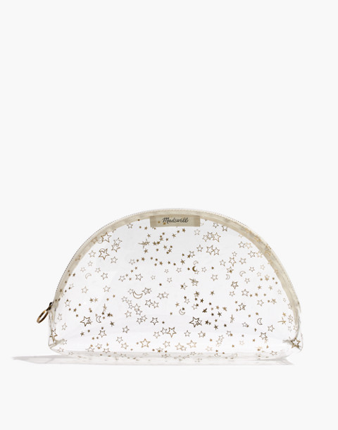Large Crystalline Half-Moon Pouch in Starry Night