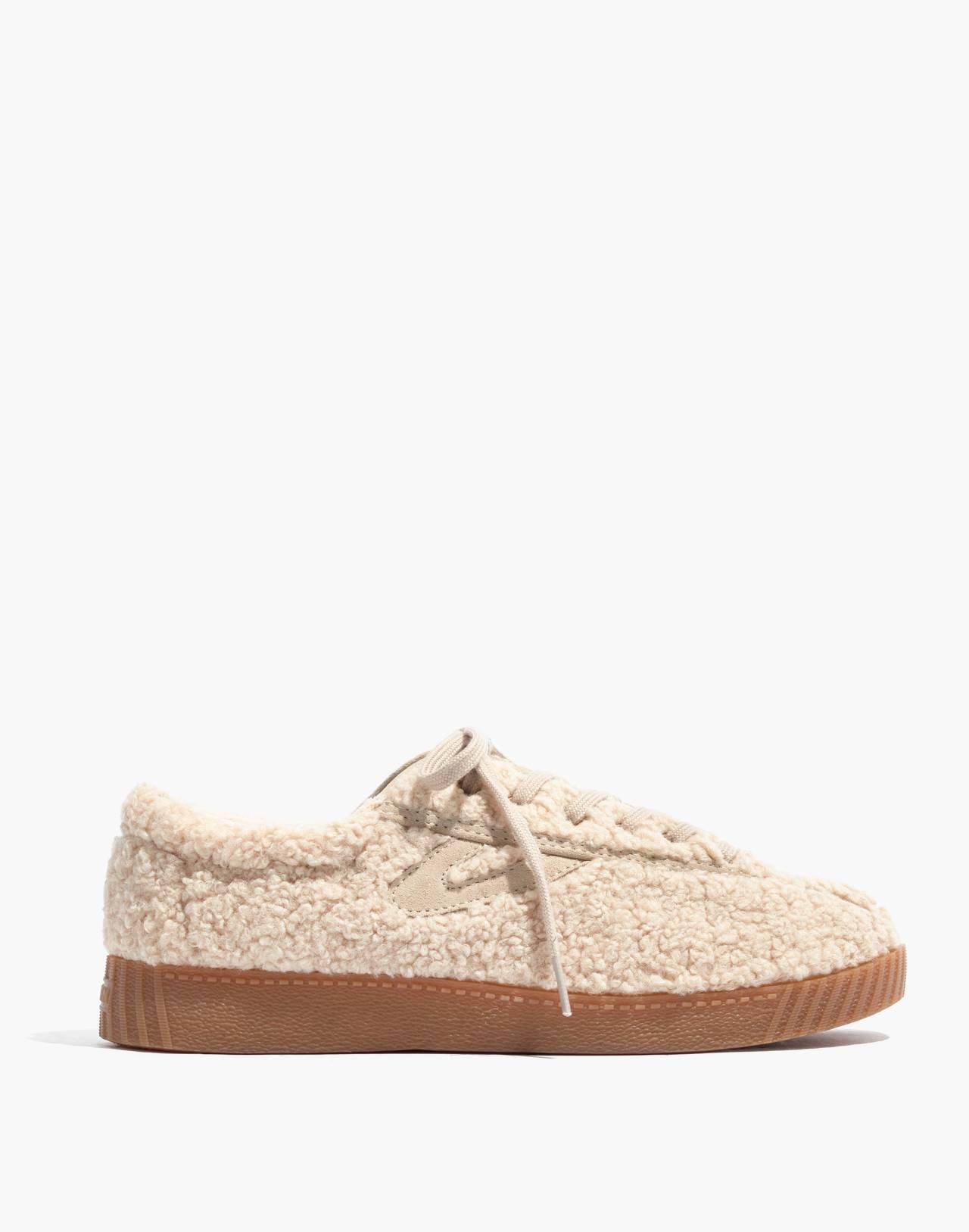Tretorn® Nylite Plus Sneakers in Cream Faux Shearling in cream image 2