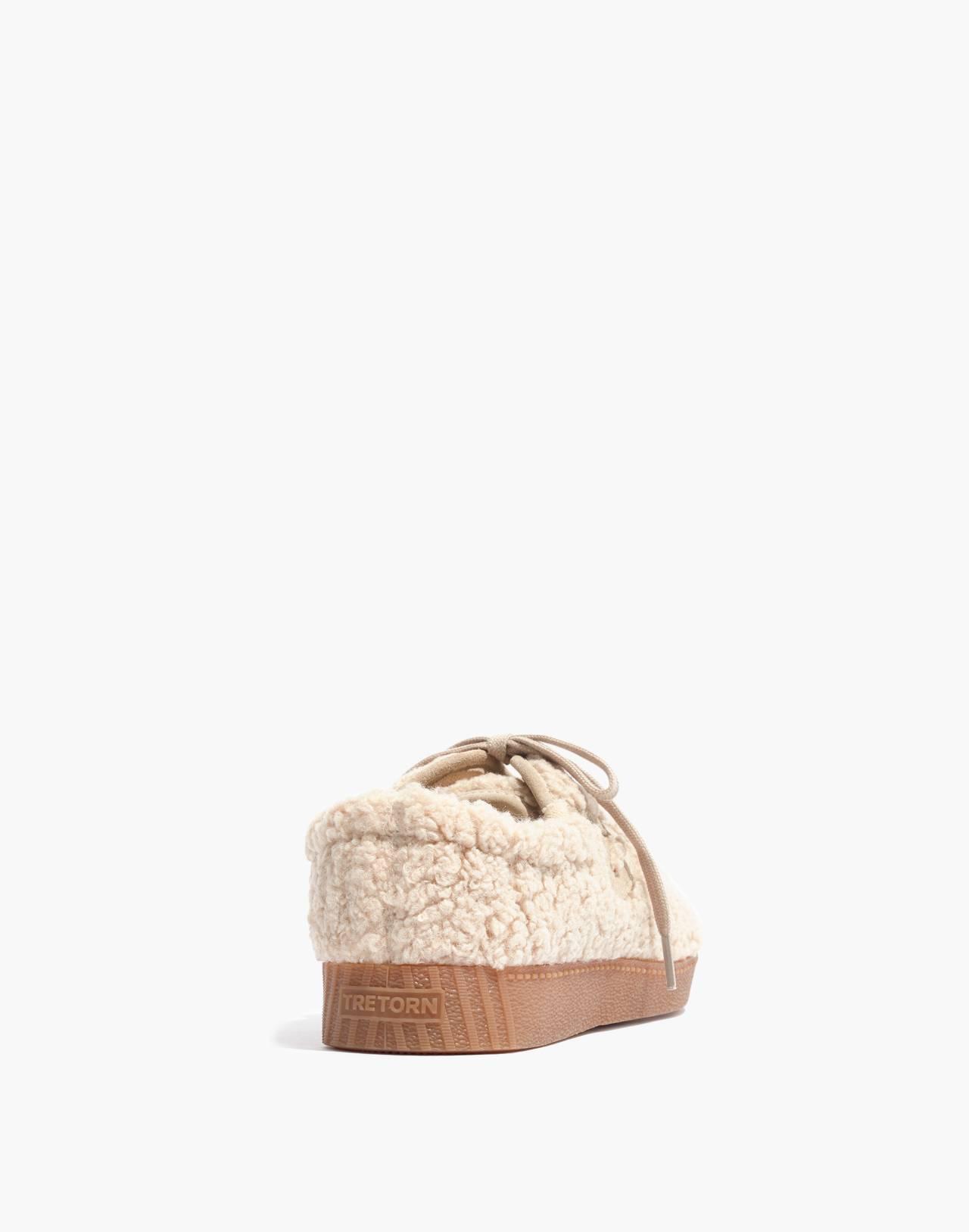 Tretorn® Nylite Plus Sneakers in Cream Faux Shearling in cream image 3