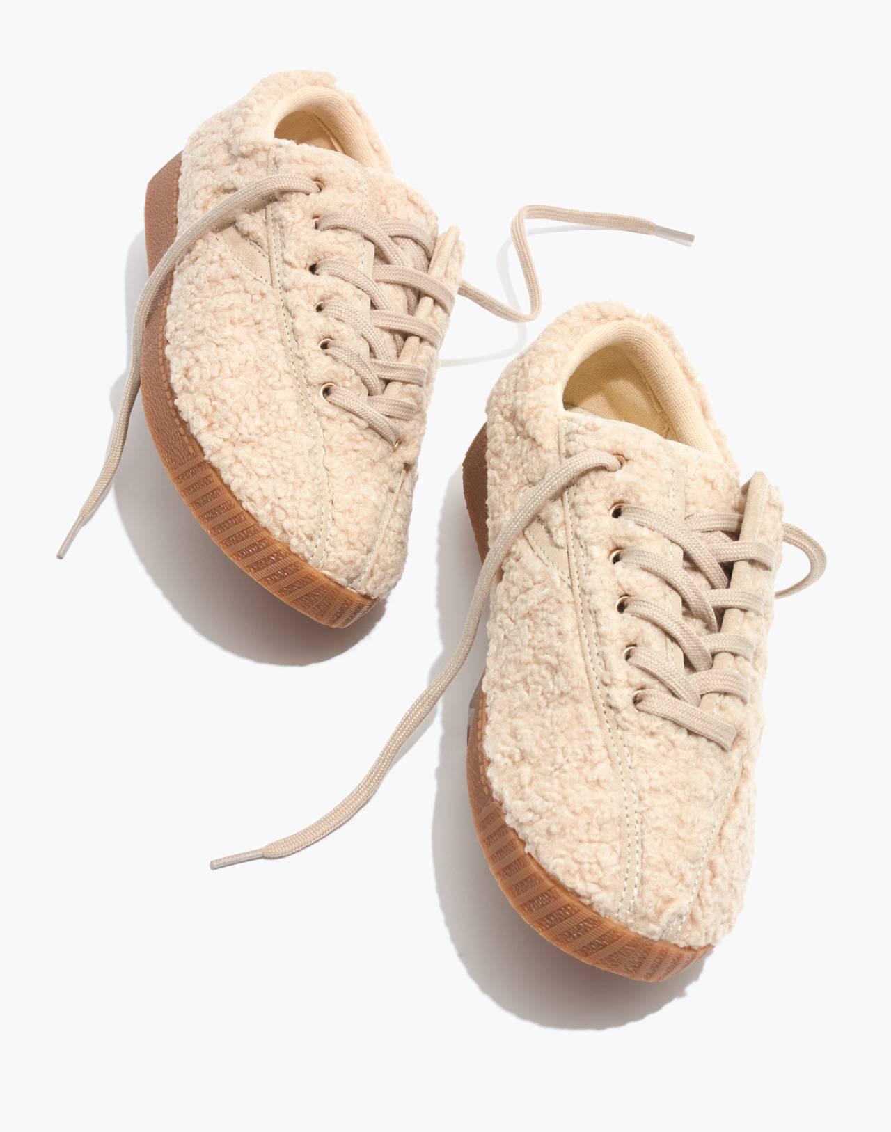 Tretorn® Nylite Plus Sneakers in Cream Faux Shearling in cream image 1