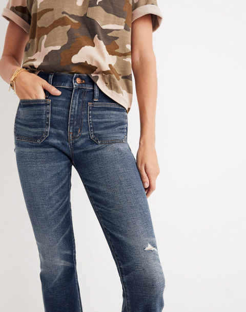 Petite Cali Demi-Boot Jeans: Patch Pocket Edition in dermott wash image 3