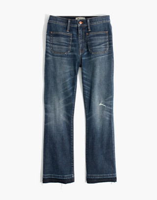 Cali Demi-Boot Jeans: Patch Pocket Edition in dermott wash image 4