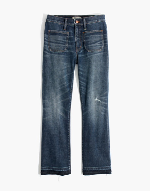 Petite Cali Demi-Boot Jeans: Patch Pocket Edition in dermott wash image 4