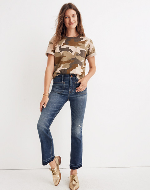 Petite Cali Demi-Boot Jeans: Patch Pocket Edition in dermott wash image 1