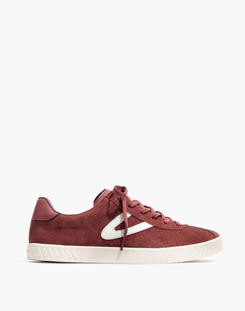 Tretorn® Camden 2 Sneakers in Rose Suede in dusty rose image 3