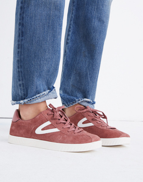 Tretorn® Camden 2 Sneakers in Rose Suede in dusty rose image 2