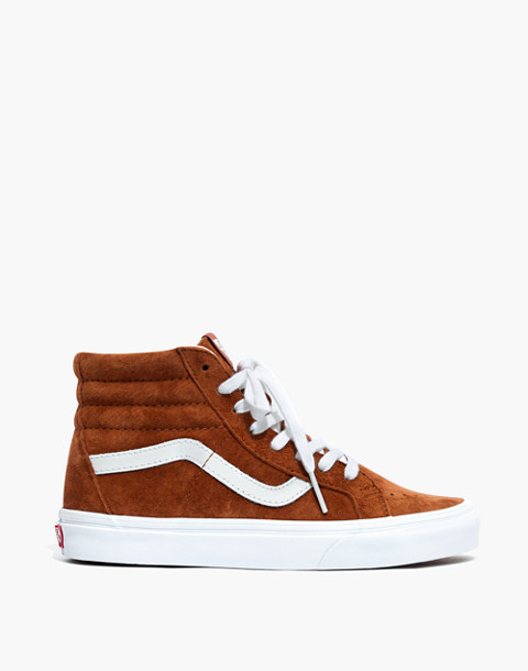 Vans® Unisex SK8-Hi Reissue High-Top Sneakers in Brown Suede in brown true white image 3