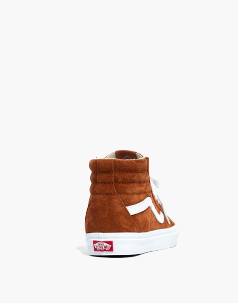 Vans® Unisex SK8-Hi Reissue High-Top Sneakers in Brown Suede in brown true white image 4