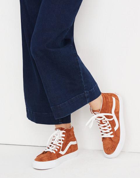 Vans® Unisex SK8-Hi Reissue High-Top Sneakers in Brown Suede in brown true white image 2