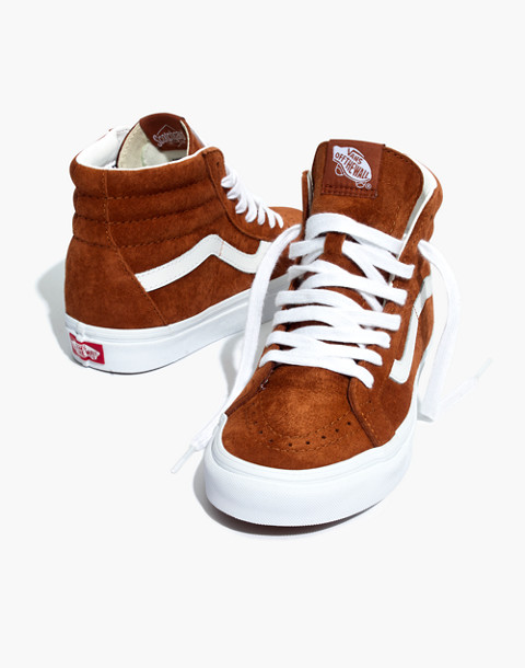 Vans® Unisex SK8-Hi Reissue High-Top Sneakers in Brown Suede in brown true white image 1