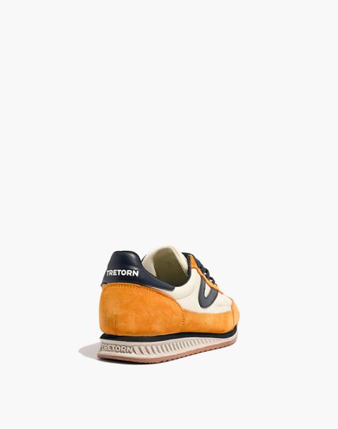 Tretorn® Rawlins2 Sneakers in Lemon Suede in lemon ice night image 4