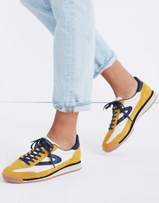 Tretorn® Rawlins2 Sneakers in Lemon Suede in lemon ice night image 2