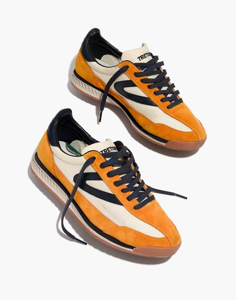 Tretorn® Rawlins2 Sneakers in Lemon Suede in lemon ice night image 1