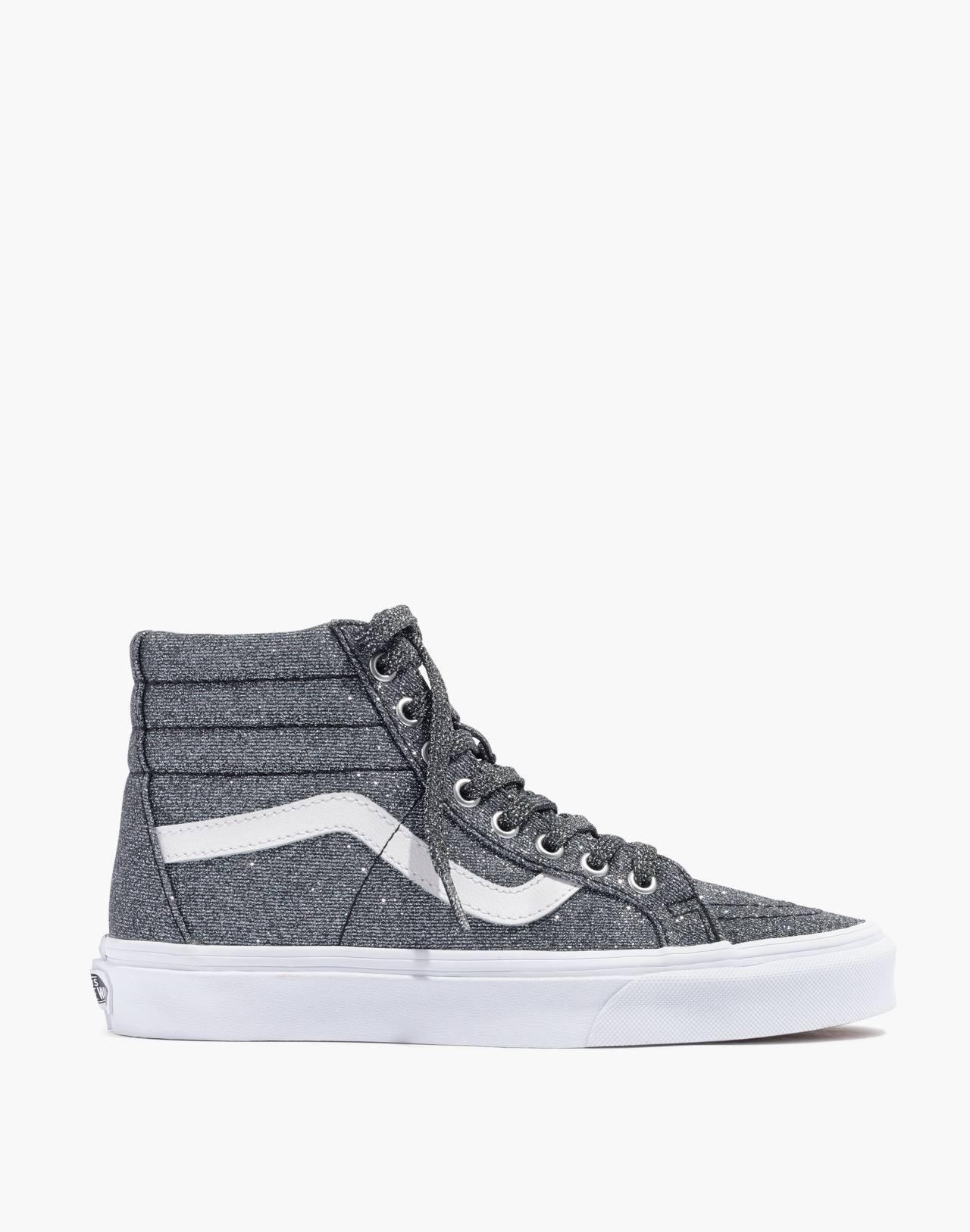 Vans® Unisex SK8-Hi Reissue High-Top Sneakers in Black Glitter in black image 3