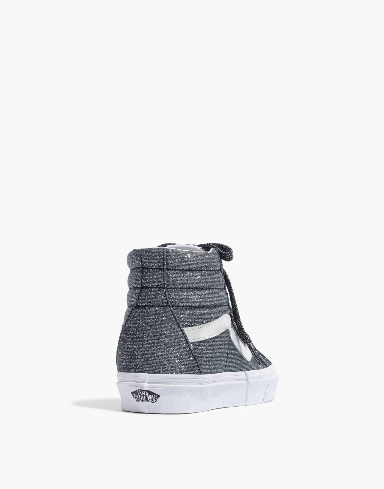 Vans® Unisex SK8-Hi Reissue High-Top Sneakers in Black Glitter in black image 4