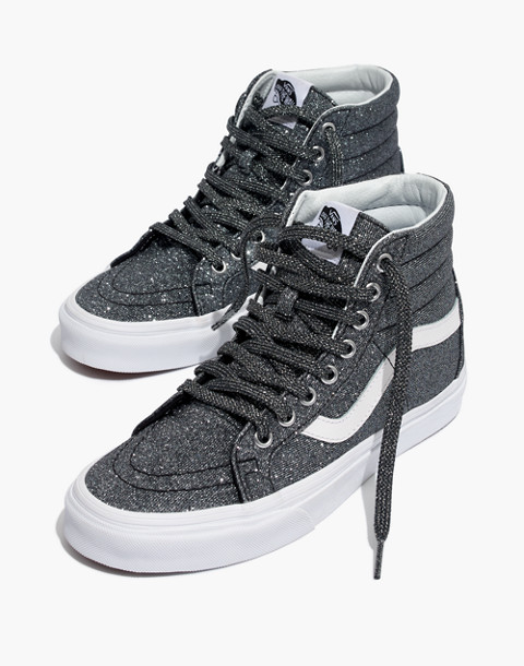 9abdaa35197 Vans reg  Unisex SK8-Hi Reissue High-Top Sneakers in Black Glitter in black