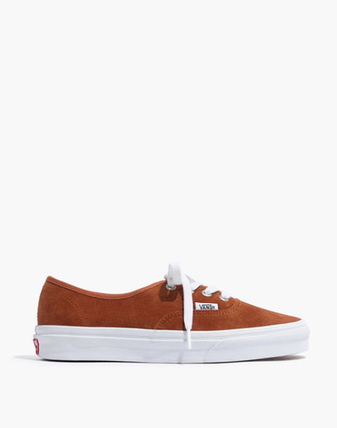 Vans® Unisex Authentic Lace-Up Sneakers in Brown Suede in brown true white image 3