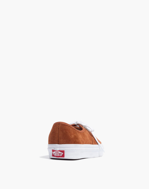 Vans® Unisex Authentic Lace-Up Sneakers in Brown Suede in brown true white image 4
