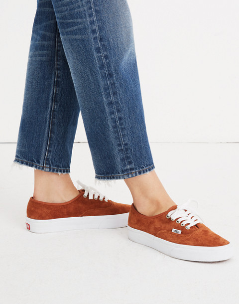 Vans® Unisex Authentic Lace-Up Sneakers in Brown Suede in brown true white image 2