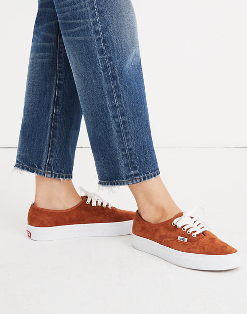 a1717c15e0 Vans reg  Unisex Authentic Lace-Up Sneakers in Brown Suede in brown true  white image