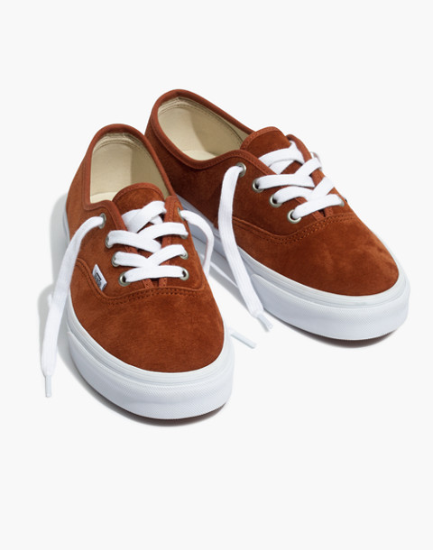 Vans® Unisex Authentic Lace-Up Sneakers in Brown Suede in brown true white image 1