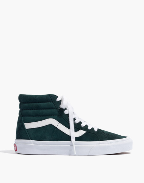 Vans® Unisex SK8-Hi Reissue High-Top Sneakers in Spruce Suede in darkest spruce true white image 3
