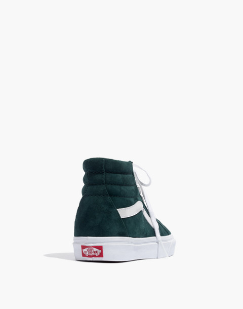Vans® Unisex SK8-Hi Reissue High-Top Sneakers in Spruce Suede in darkest spruce true white image 4