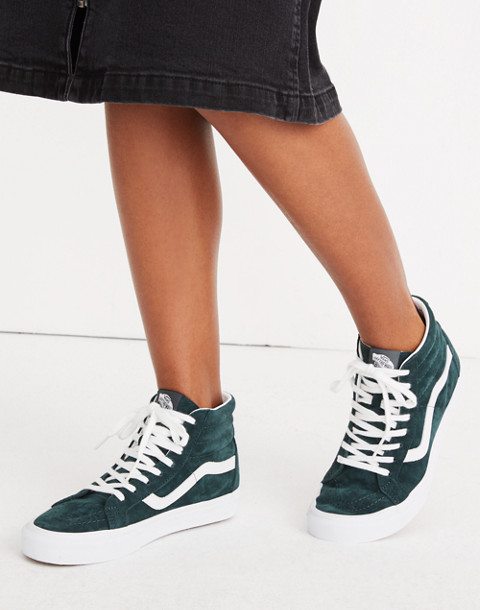 Vans® Unisex SK8-Hi Reissue High-Top Sneakers in Spruce Suede in darkest spruce true white image 2