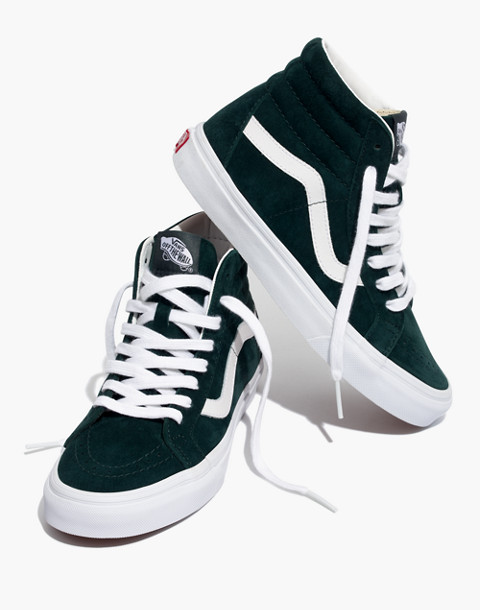 Vans® Unisex SK8-Hi Reissue High-Top Sneakers in Spruce Suede in darkest spruce true white image 1